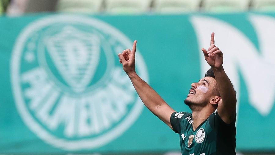 Willian comemora gol do Palmeiras em partida contra o América - Cesar Greco/Palmeiras