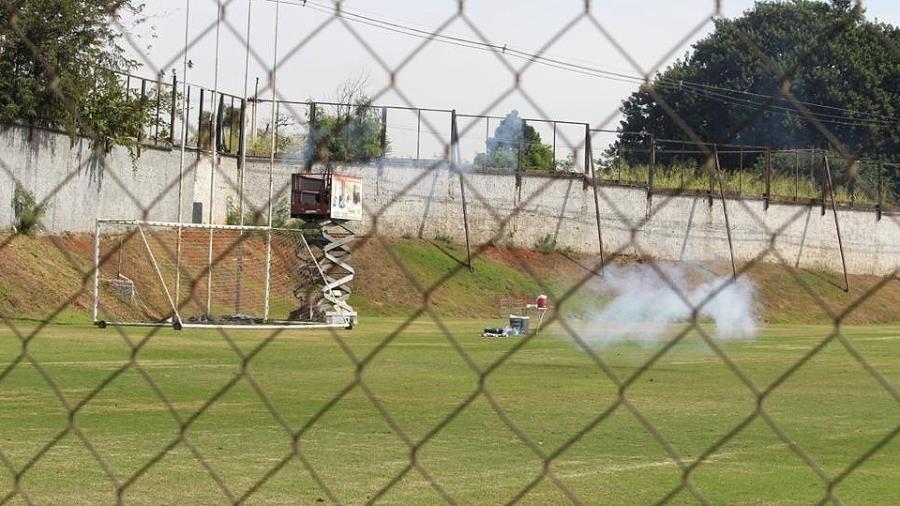 Morteiro explode no gramado do CT da Ponte Preta - PontePress