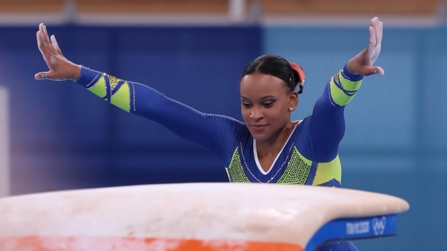 Após prata histórica no individual geral, ginasta brasileira Rebeca Andrade agora busca o ouro no salto - Ricardo Bufolin/CBG