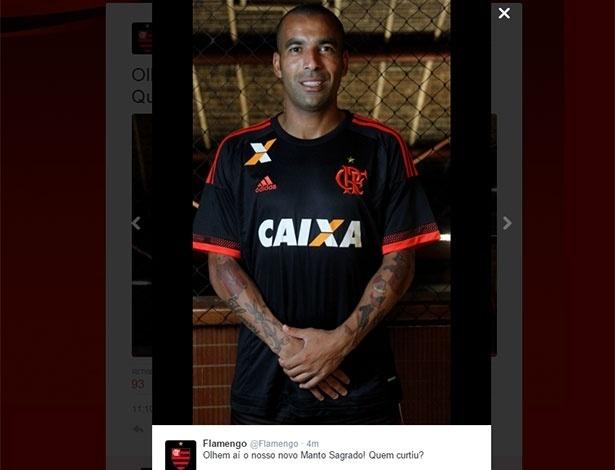 Flamengo apresenta novo uniforme - Reprodução/Twitter