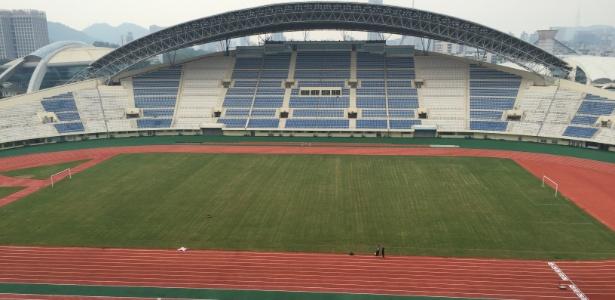 Estádio na cidade de Zhuhai, pode receber treinamentos do Grêmio em pré-temporada