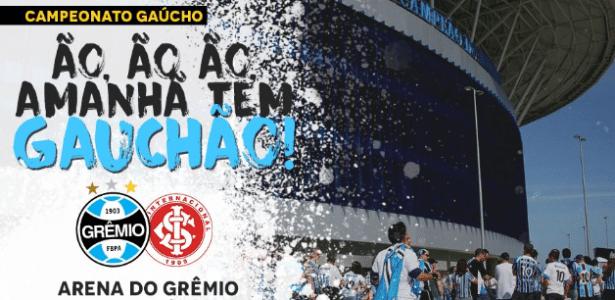 Chamada do clássico Gre-Nal feita pela comunicação do Grêmio é provocativa