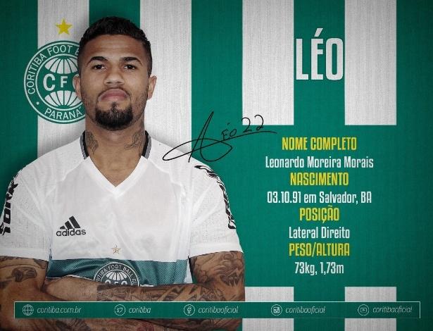Léo vai reforçar o Coritiba no Brasileirão