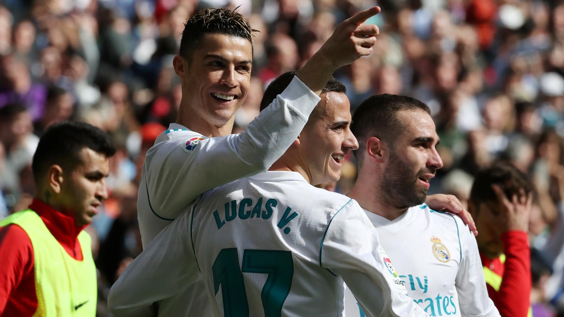 Cristiano Ronaldo comemora seu gol pelo Real Madrid