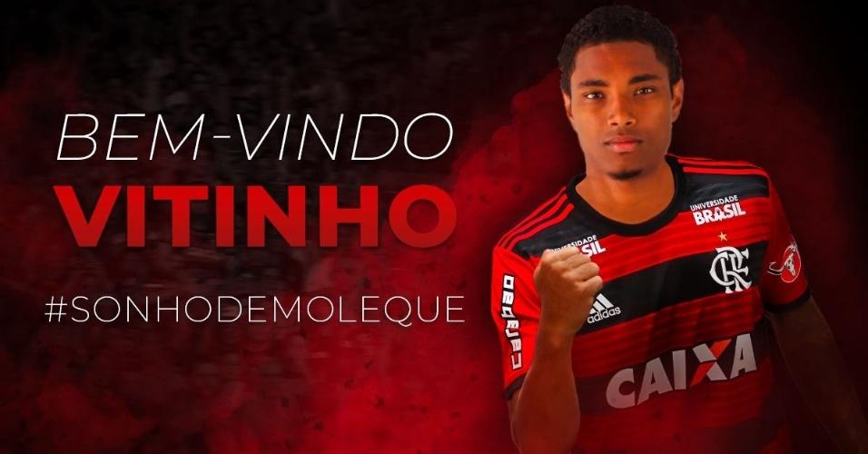 Flamengo anuncia a contratação do atacante Vitinho