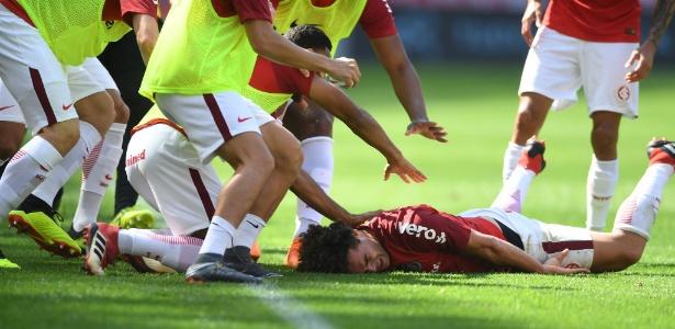 Camilo fica fora de partida entre Internacional e Santos nesta segunda-feira, no Sul - Ricardo Duarte/Inter