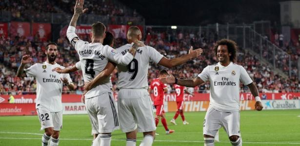 09c5e438ce3db Real Madrid faz 2 de pênalti e vence o Girona de virada no Espanhol ...