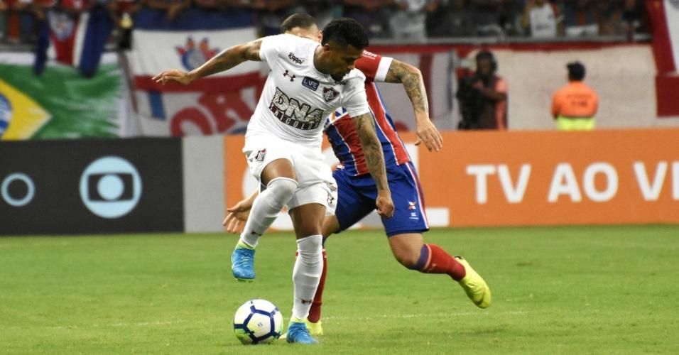 Jogadores de Fluminense e Bahia se enfrentam