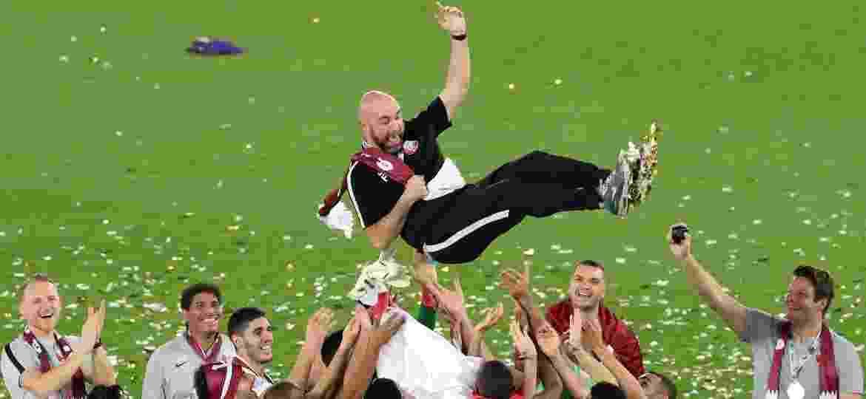 Felix Sánchez Bas é formado na escola do Barcelona e ganhou a Copa da Ásia com o Qatar - Ahmed Jadallah/Reuters