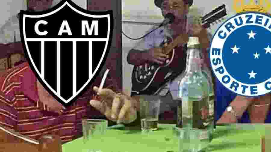 O revés atleticano complicou ainda mais a vida do Cruzeiro, que não foi perdoado nas brincadeiras nas redes sociais junto com o Galo - Reprodução