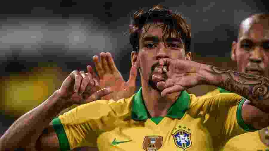 Lucas Paquetá vibra após marcar o 1° gol do Brasil contra a Coreia do Sul - Pedro Martins / MoWA Press