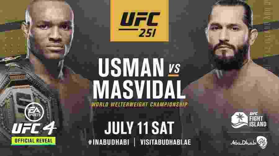 Cartaz da luta UsmanxMasvidal, do UFC - Reprodução