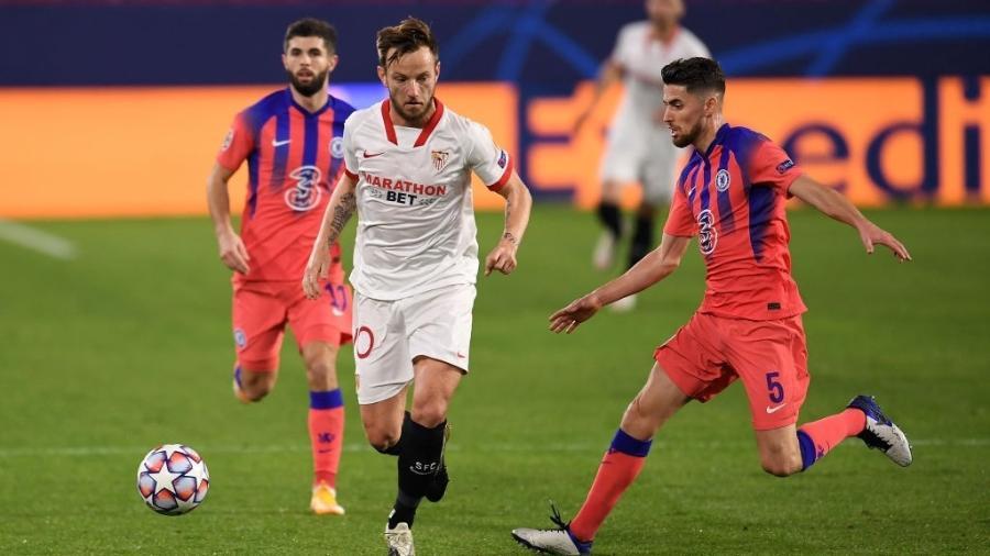 Sevilla jogando a Liga dos Campeões contra o Chelsea  - David Ramos/Getty Images