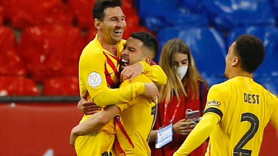 Messi comemora gol do Barcelona na Copa do Rei - MARCELO DEL POZO/REUTERS