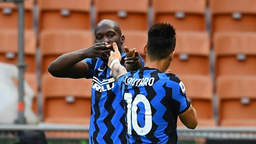 Lukaku e Lautaro Martinez estão entre os favoritos para deixarem a Inter - Claudio Villa - Inter/Inter via Getty Images