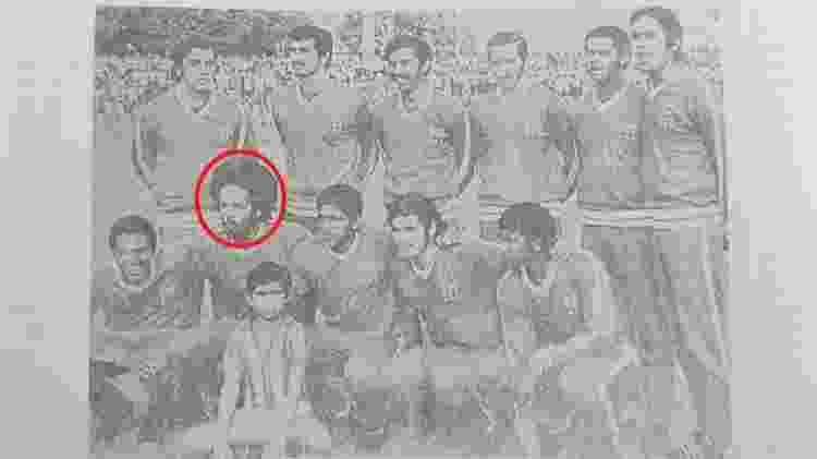 Allan Cole, durante amistoso do Náutico em 1971 - Reprodução/O Náutico - a Bola e as Lembranças - Reprodução/O Náutico - a Bola e as Lembranças