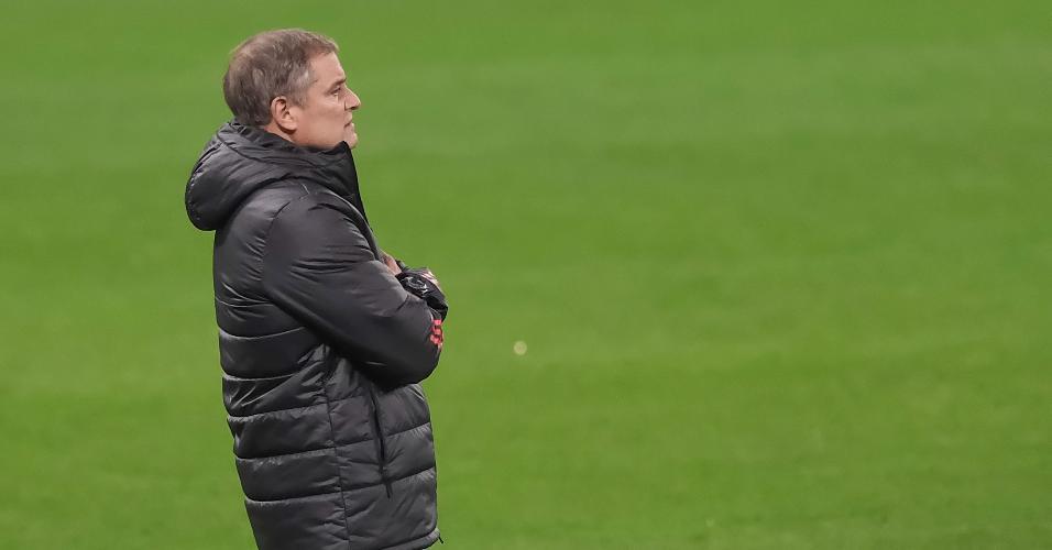 Diego Aguirre, técnico do Inter, durante o jogo contra o Corinthians