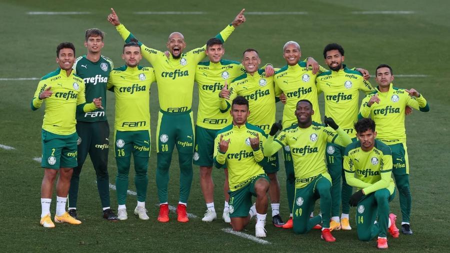 Jogadores do Palmeiras em treino na Academia de Futebol - Cesar Greco