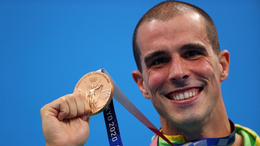 Bruno Fratus conquistou a medalha de bronze nos 50m livre nas Olimpíadas de Tóquio - Reuters