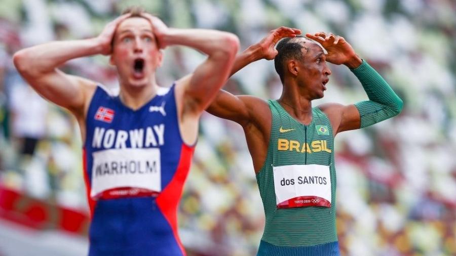 Warhol e Alison na final dos 400m com barreiras - Wagner do Carmo/CBAt