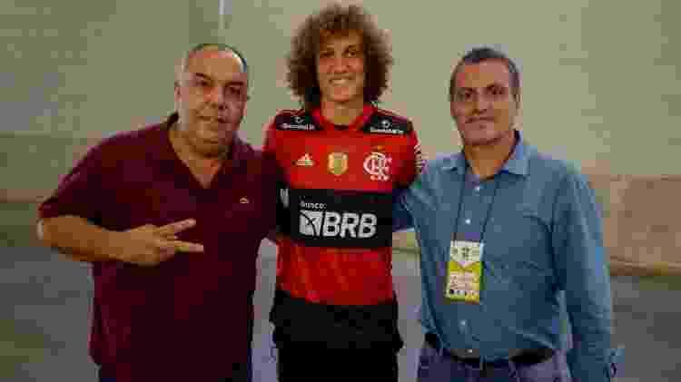 David Luiz já vestiu rubro-negro - Marcelo Cortes/Flamengo - Marcelo Cortes/Flamengo