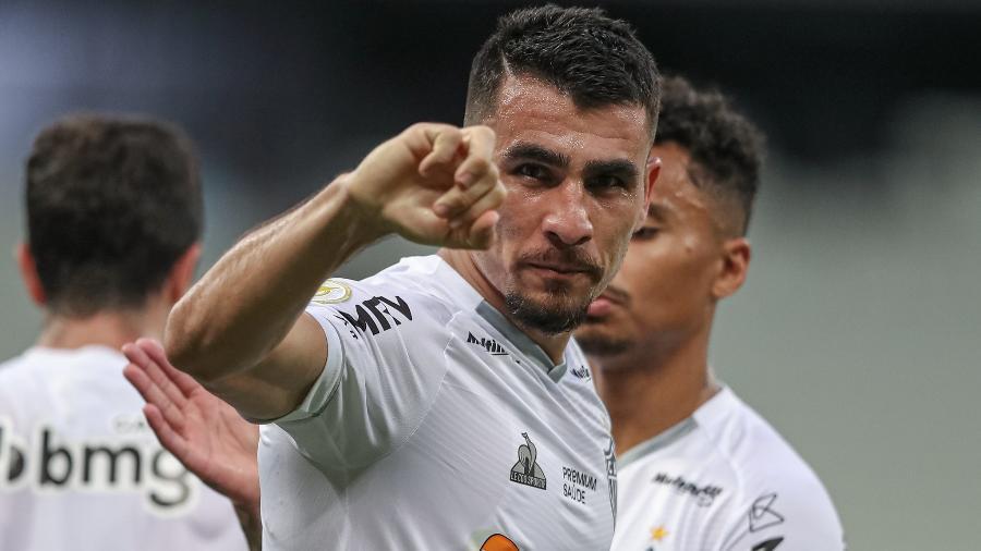 Junior Alonso foi soberano na defesa e ainda marcou um dos gols na vitória do Galo sobre o Fortaleza - Pedro Souza/Atlético-MG