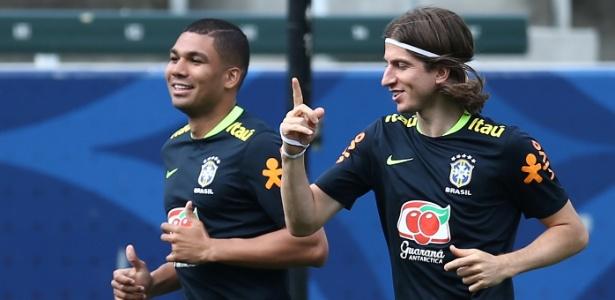 Filipe Luís e Casemiro chegaram à seleção após a final da Liga dos Campeões