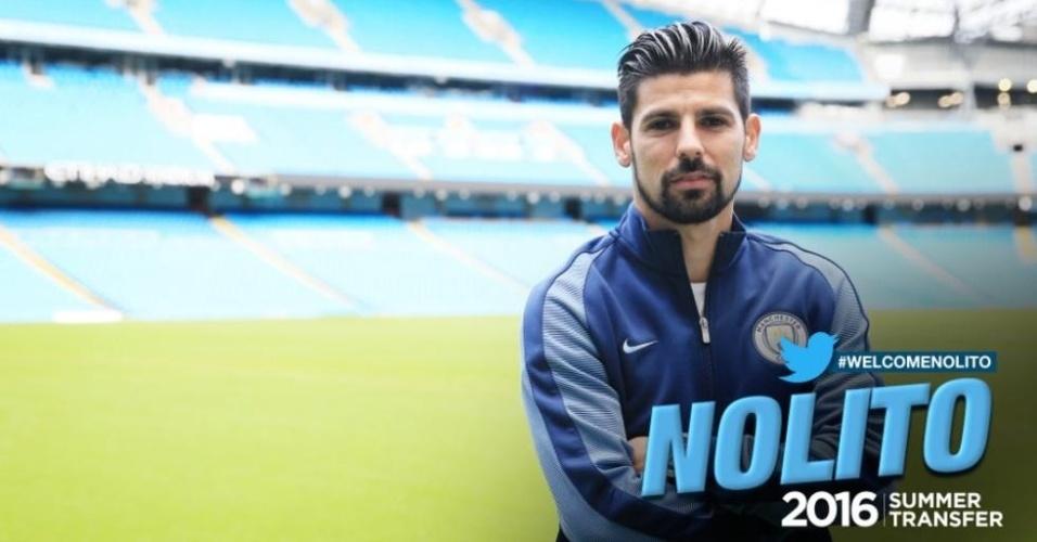 Nolito é confirmado c omo novo jogador do Manchester City