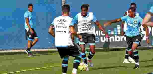 Negueba volta aos treinos no Grêmio - RODRIGO RODRIGUES/GREMIO FBPA - RODRIGO RODRIGUES/GREMIO FBPA