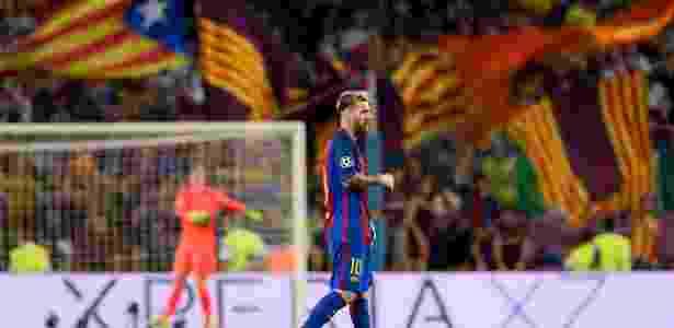 Manifestações pró separatismo levaram Uefa a acionar o TAS contra o Barcelona - JOSEP LAGO/AFP