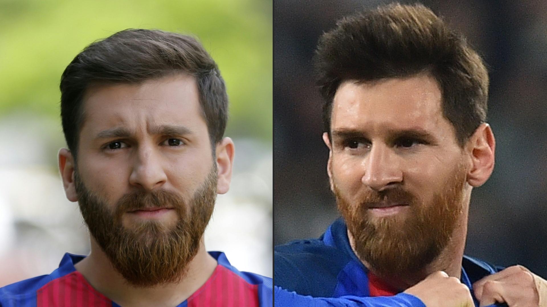 Estudante iraniano sósia de Lionel Messi