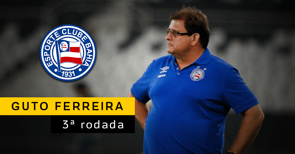 Guto Ferreira deixou o Bahia na terceira rodada para dirigir o Inter, que demitiu Antônio Carlos Zago, na Série B. Jorginho assumiu como treinador do Bahia.