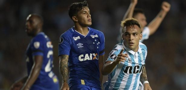 Lautaro Martinez anotou três gols na vitória do Racing sobre o Cruzeiro