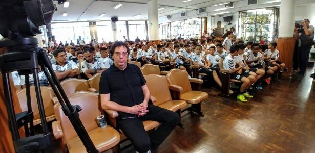 Casagrande conversou com jovens santistas nesta quinta-feira - Divulgação/Santos FC