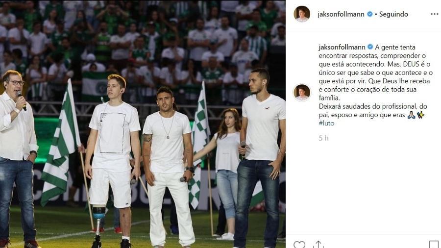 Jakson Follmann escreve mensagem de pesar por morte de Rafael Henzel - Reprodução/Instagram