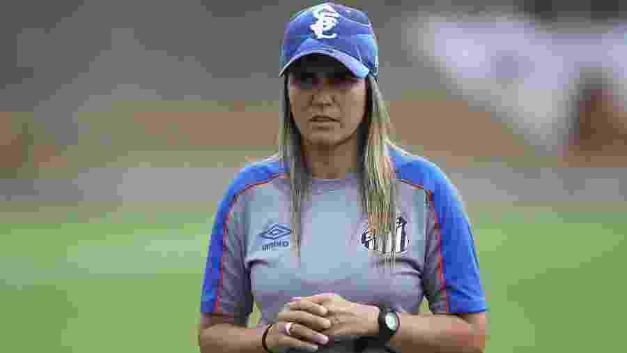Emily Lima, técnica do Santos - Pedro Ernesto Guerra Azevedo/Santos FC