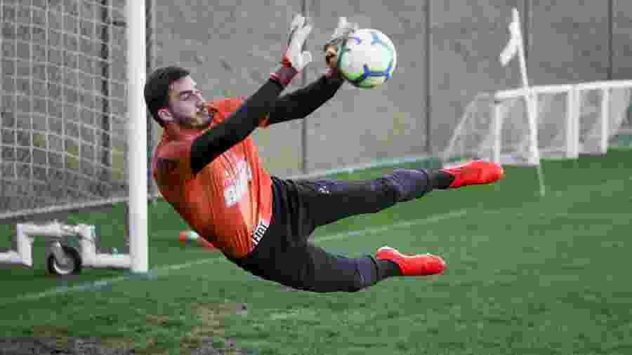 Cleiton, goleiro do Atlético-MG, pode se transferir para o Red Bull Bragantino no mercado da bola - Bruno Cantini/Divulgação/Atlético-MG