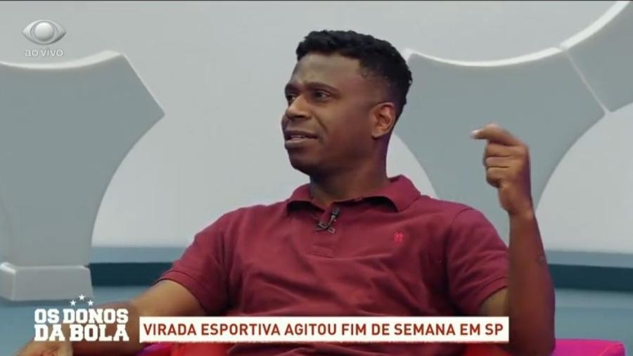 Edílson, durante Os Donos da Bola, citou Mirandinha ao criticar Mbappé - Reprodução/Bandeirantes