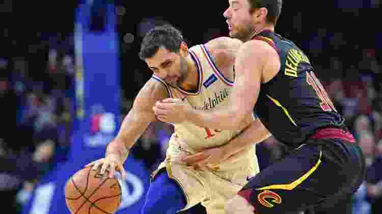Raulzinho é opção na rotação dos Sixers, um dos melhores times do Leste da NBA - Eric Hartline/USA Today Sports