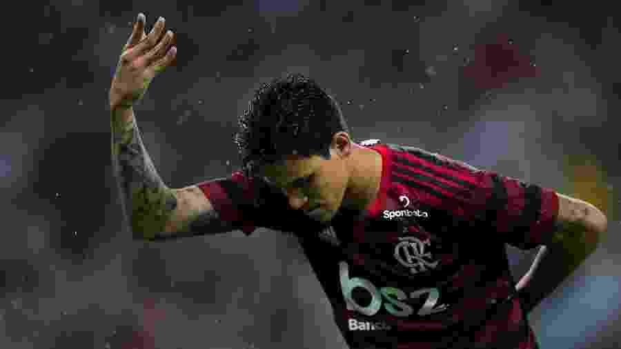 Pedro comemora gol pelo Flamengo em virada sobre o Resende - Thiago Ribeiro/AGIF