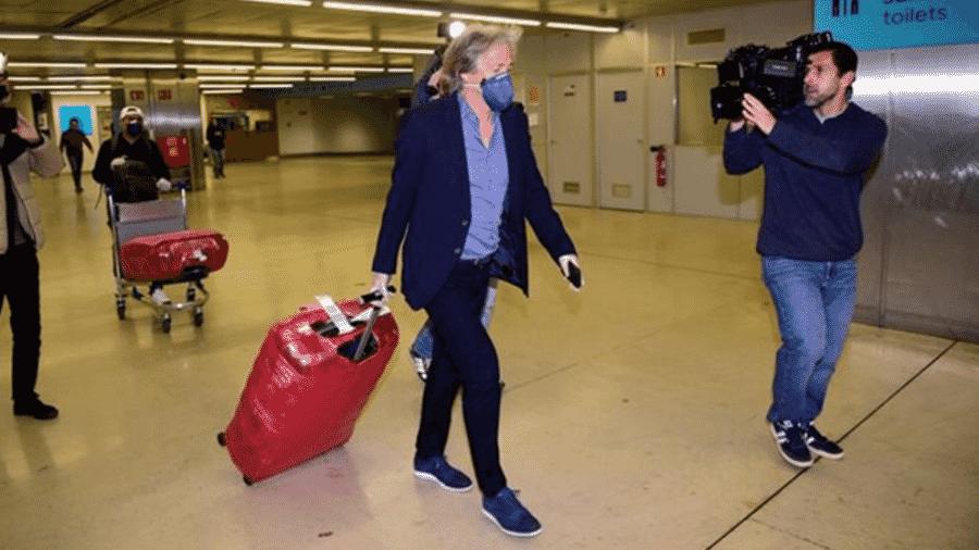 Jorge Jesus no Aeroporto de Lisboa - Reprodução / A Bola