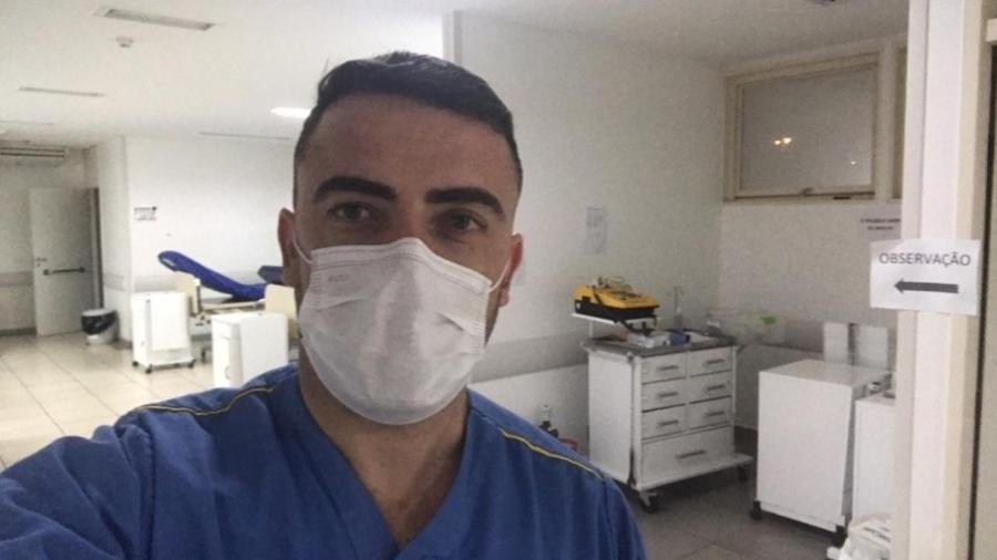 Graduado em enfermagem, Igor Junio Benevenuto dá plantões noturnos em UPA de Sete Lagoas - Acervo pessoal