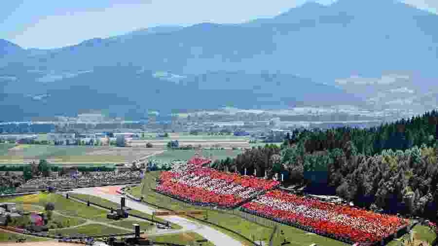 Vista aérea do circuito de Red Bull Ring - Matthias Heschl/Red Bull Content Pool