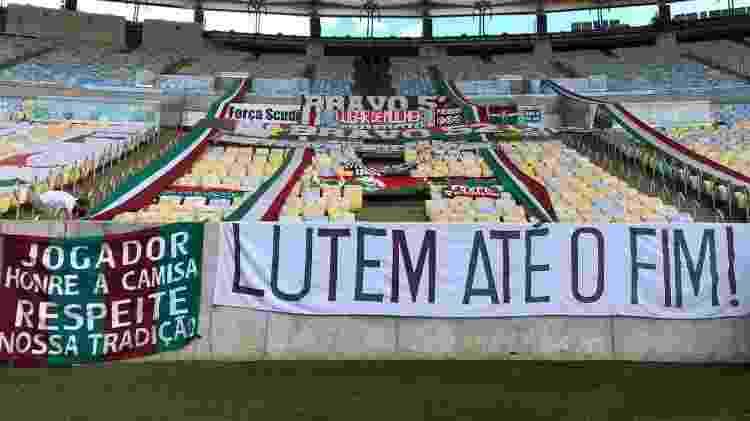 Torcida do Fluminense levou faixa de arrancada que livrou clube do rebaixamento em 2009 - Arquivo pessoal - Arquivo pessoal