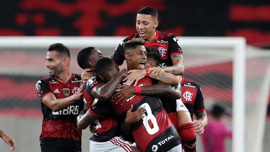 Flamengo lidera o grupo A da Libertadores com 12 pontos em cinco jogos - SIlvia Izquierdo-Pool/Getty Images