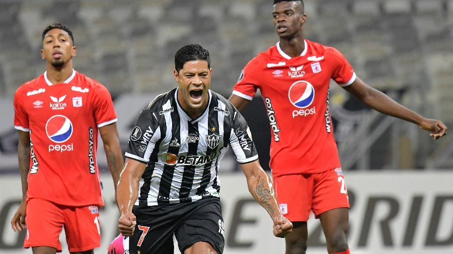 Hulk comemora gol do Atlético-MG contra o América de Cali, pela Libertadores 2021 - Getty Images