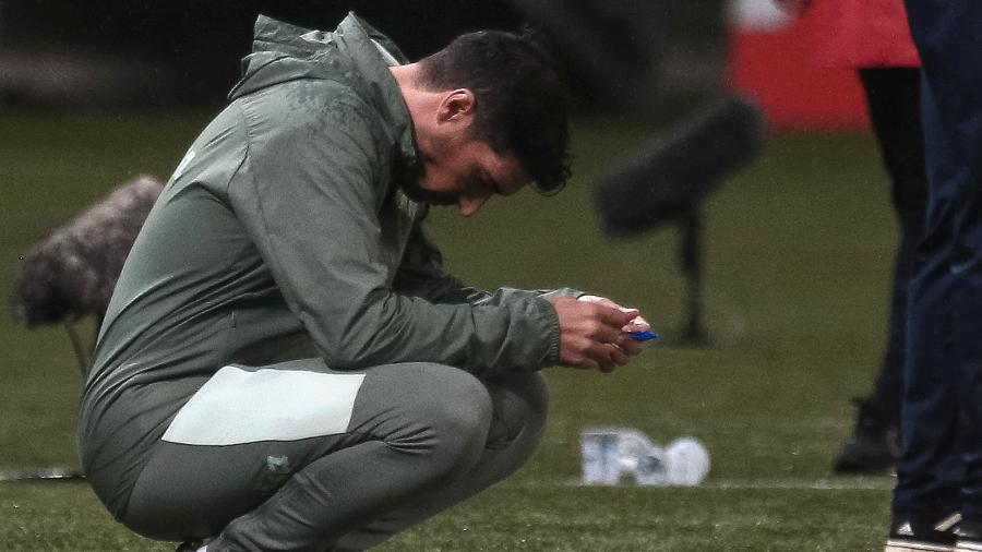 Abel Ferreira, técnico do Palmeiras, durante derrota para o Red Bull Bragantino - Ettore Chiereguini/AGIF