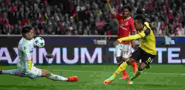 Ederson foi o grande vilão para Aubameyang na partida - Reuters / Pedro Nunes - Reuters / Pedro Nunes