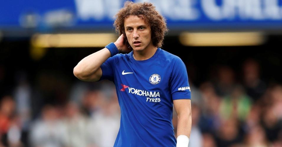 O zagueiro David Luiz, do Chelsea, durante partida contra o Arsenal
