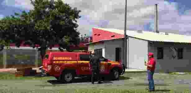 Bombeiros foram acionados para atender princípio de incêndio em CT do Inter - Jeremias Wernek/UOL - Jeremias Wernek/UOL